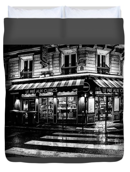 Paris At Night - Rue Bonaparte Duvet Cover
