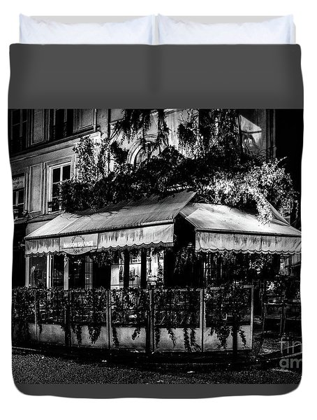 Paris At Night - Rue De Buci Duvet Cover