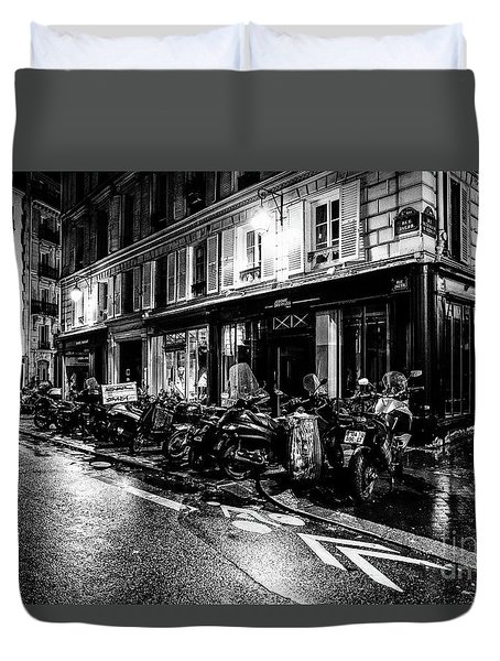 Paris At Night - Rue Jacob Duvet Cover