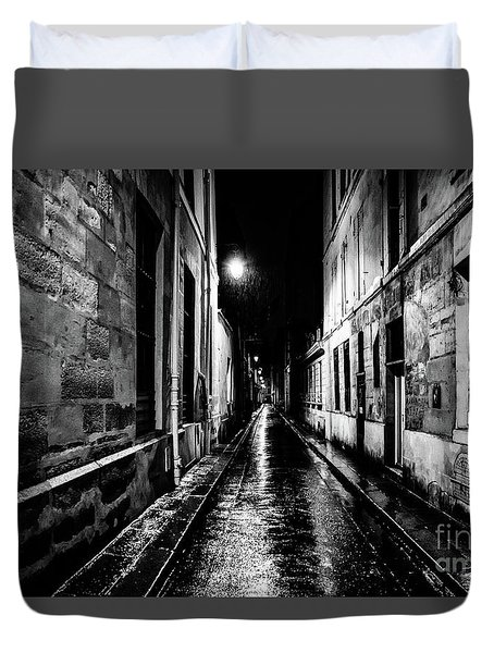 Paris At Night - Rue Visconti Duvet Cover