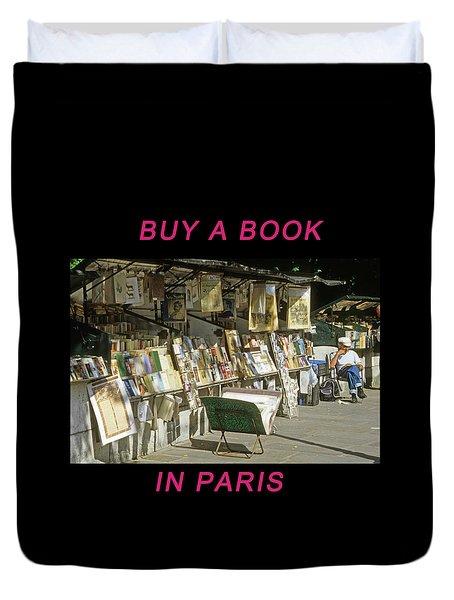 Paris Bookseller Duvet Cover