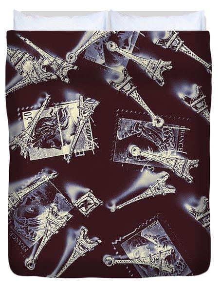 Paris Post Duvet Cover