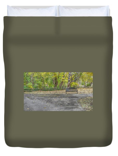 Park Bench @ Sharon Woods Duvet Cover