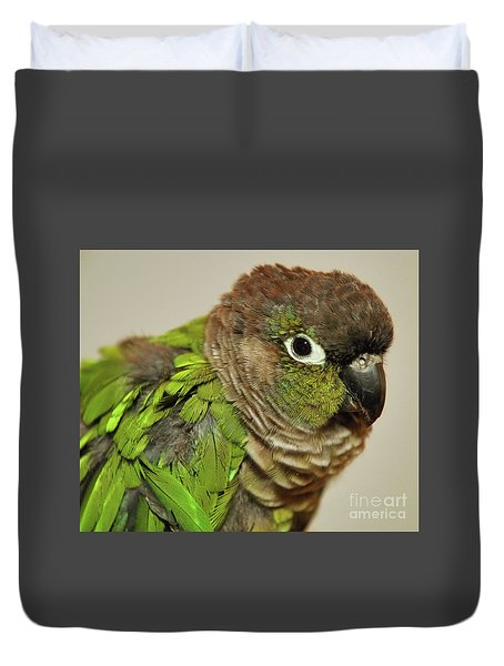 Duvet Cover featuring the photograph Parker by Debbie Stahre