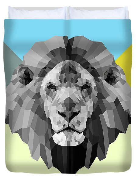 Party Lion Duvet Cover