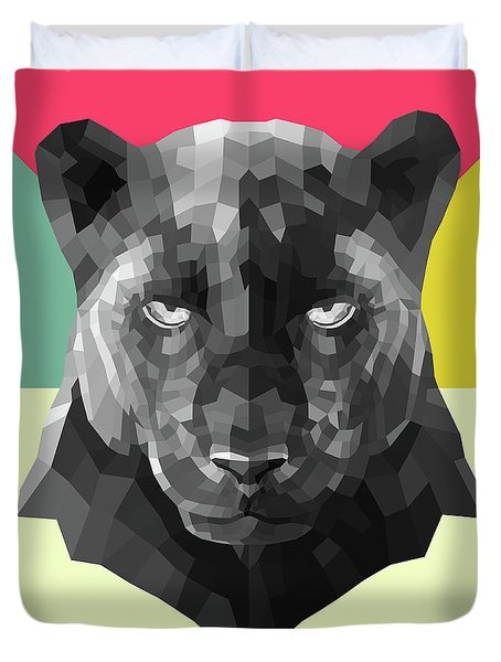 Party Panther Duvet Cover