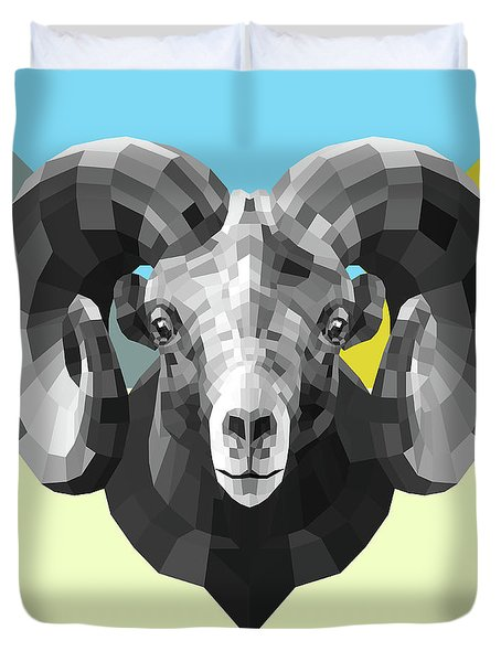 Party Ram Duvet Cover