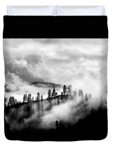 Passing Storm Central Idaho Mountains Duvet Cover