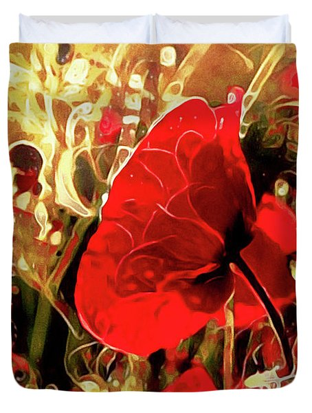 Passionate About Poppies Duvet Cover