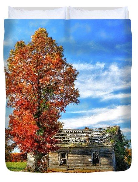 Past Its Prime Vintage Autumn Barn Ap Duvet Cover