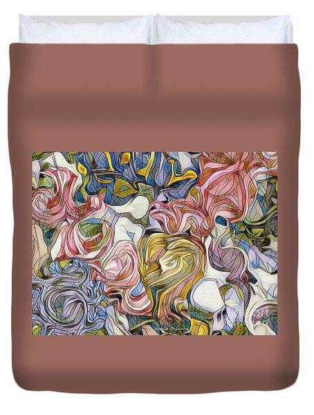 Pastel Mosaic Duvet Cover
