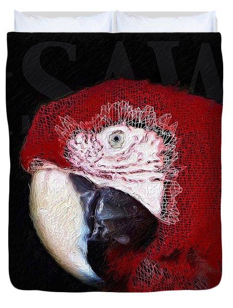 Patchwork Parrot Duvet Cover