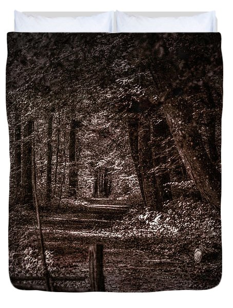 Path In Forest #i0 Duvet Cover