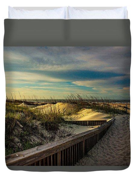 Path To The Beach  Duvet Cover