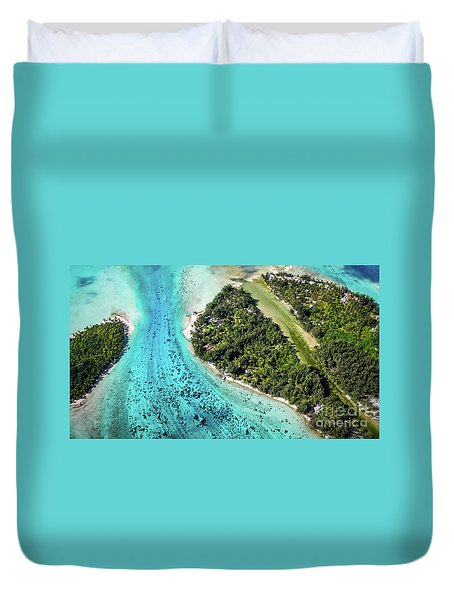 Bora Bora - Pathway To The Ocean Duvet Cover