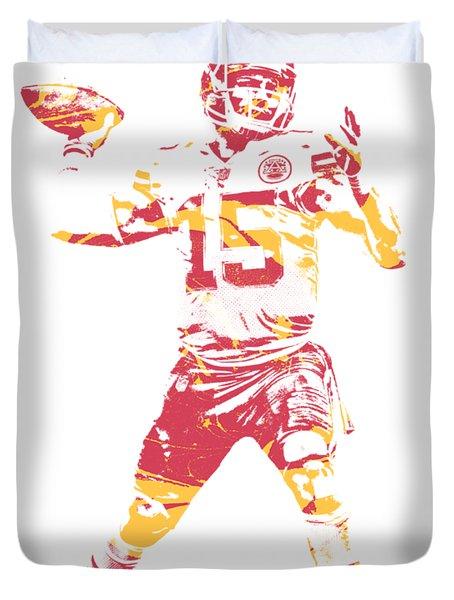 Patrick Mahomes Kansas City Chiefs Apparel T Shirt Pixel Art 1 Duvet Cover