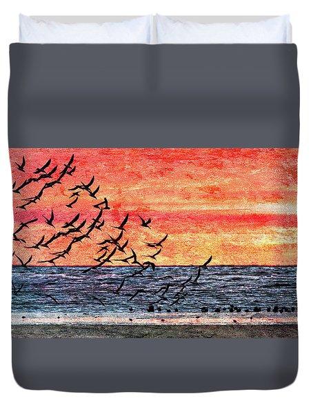 Patriotic Sunrise Duvet Cover