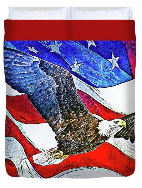 Patriotism Duvet Cover
