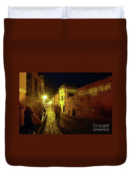 Duvet Cover featuring the photograph Patzcuaro Street by Rosanne Licciardi
