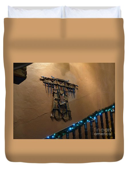 Duvet Cover featuring the photograph Patzcuaro Wall Hanging by Rosanne Licciardi