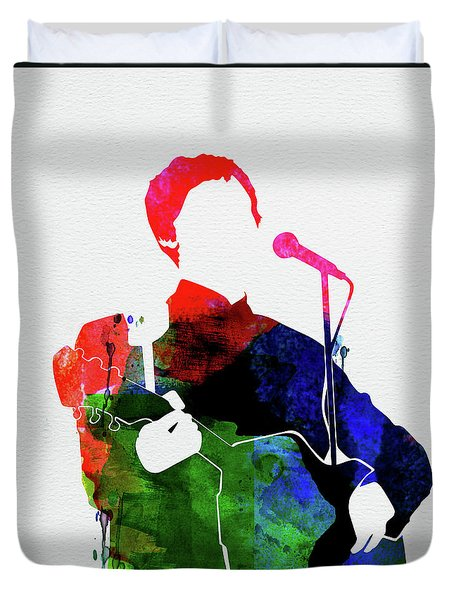 Paul Mccartney Watercolor Duvet Cover
