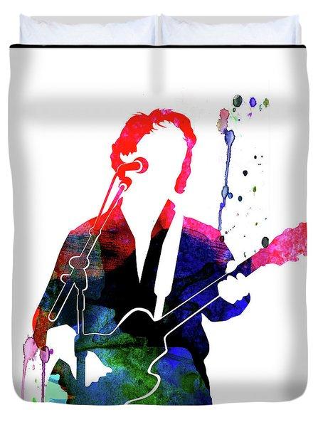 Paul Simon Watercolor Duvet Cover