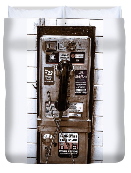 Payphone Duvet Cover