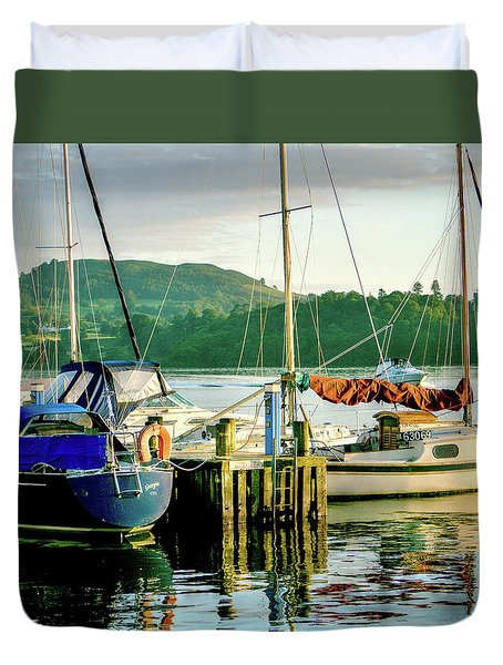 Peace In Lake Windermere Duvet Cover