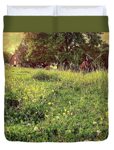 Peaceful Pastoral Perspective Duvet Cover