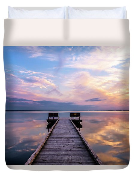 Duvet Cover featuring the photograph Peaceful by Russell Pugh