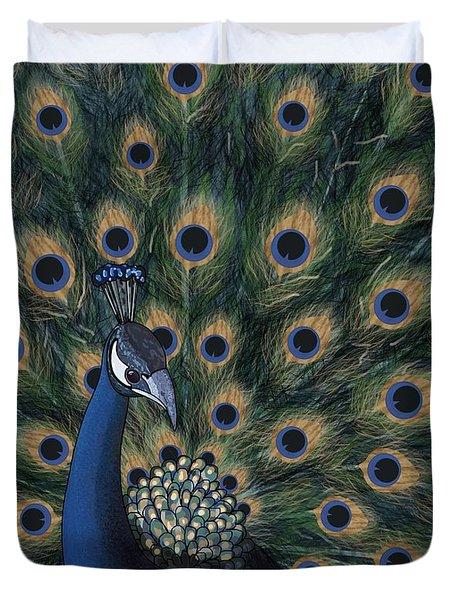 Peacock Digital Change1 Duvet Cover