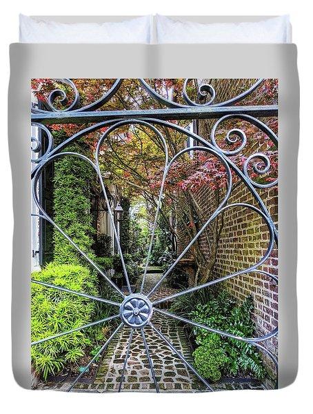 Peek-a-boo Garden Duvet Cover