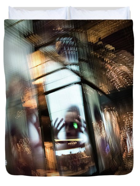 Duvet Cover featuring the photograph Peering Through by Alex Lapidus