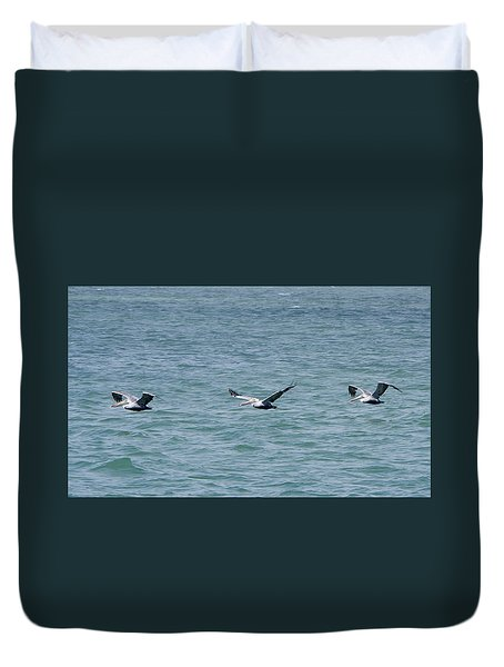 Pelican Flight Duvet Cover