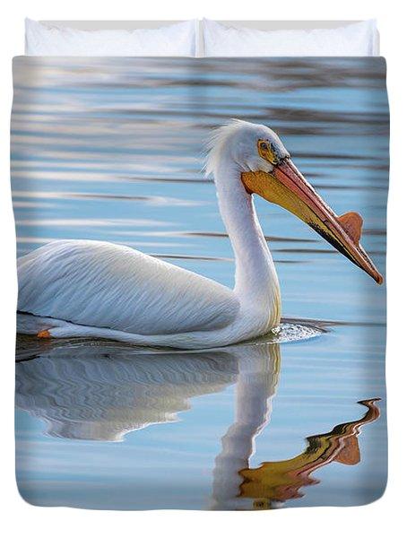 Pelican Reflection Duvet Cover