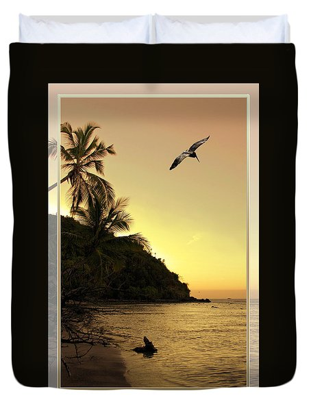 Pelican Sundown Duvet Cover