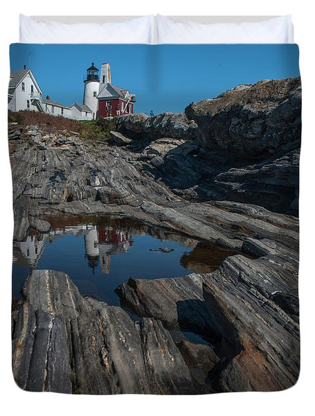 Pemaquid Lighthouse Duvet Cover