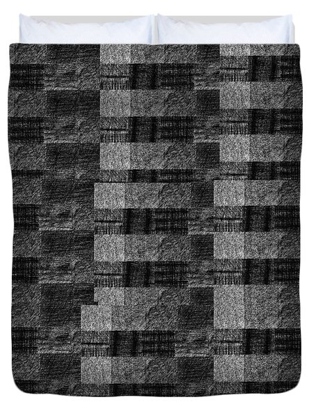 Pencil Scribble Texture 2 Duvet Cover