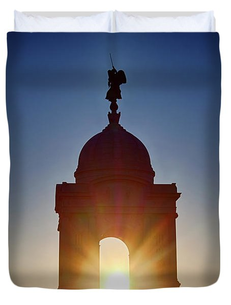 Pennsylvania State Monument Duvet Cover