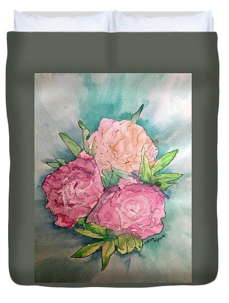Peonie Roses Duvet Cover