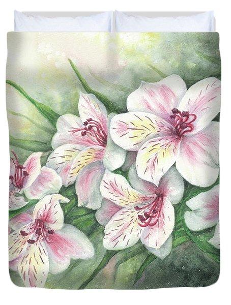 Peruvian Lilies Duvet Cover