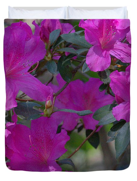 Duvet Cover featuring the photograph Petunias by TeeMack