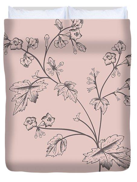 Phacelia Blush Pink Flower Duvet Cover
