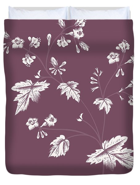 Phacelia Purple Flower Duvet Cover