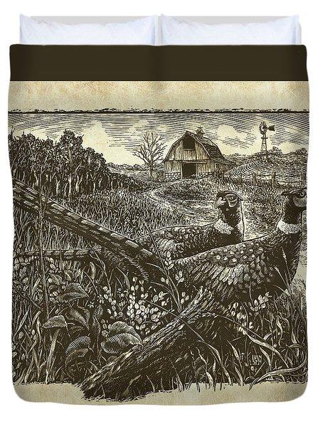 Pheasants Duvet Cover