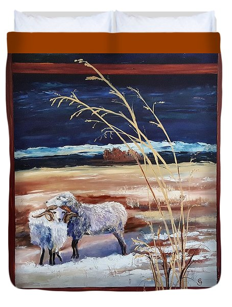 Phil And Alice Navajo Sheep    38 Duvet Cover