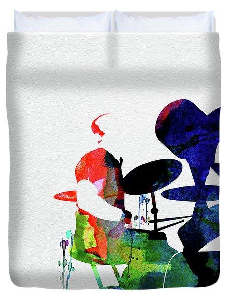 Phil Collins Watercolor Duvet Cover