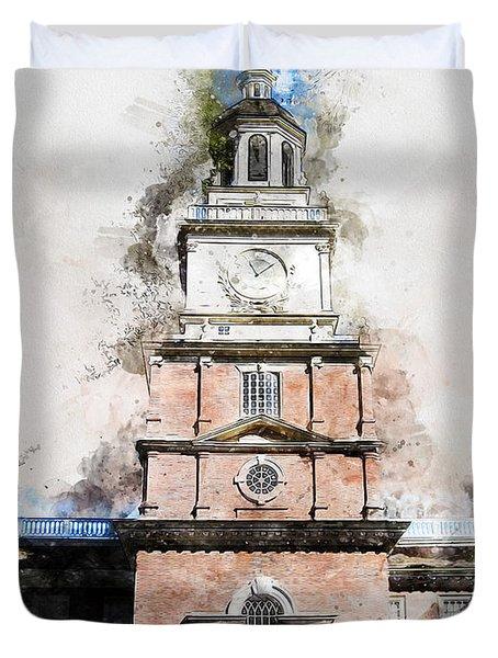 Philadelphia Independence Hall - 01 Duvet Cover