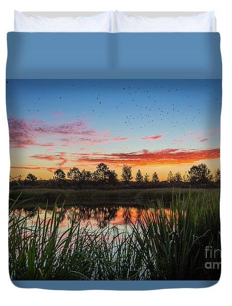 Phinizy Swamp Sunrise - Augusta Ga Duvet Cover