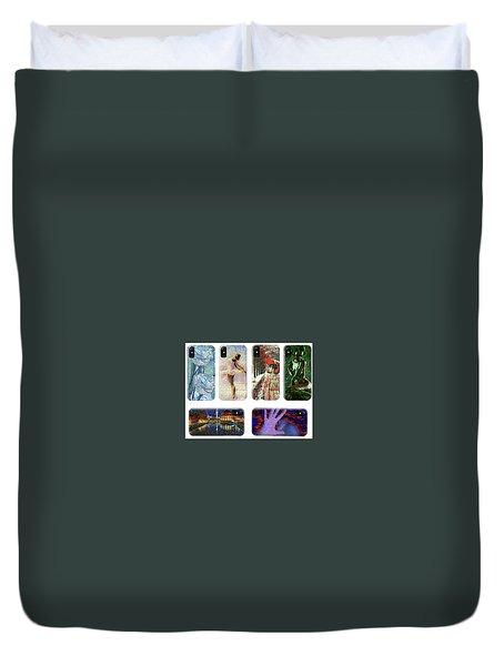 Phone Cases Samples Duvet Cover